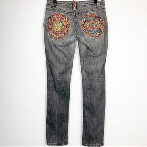 Coogi Women's Low Rise Gray Skinny Jeans Size 5/6